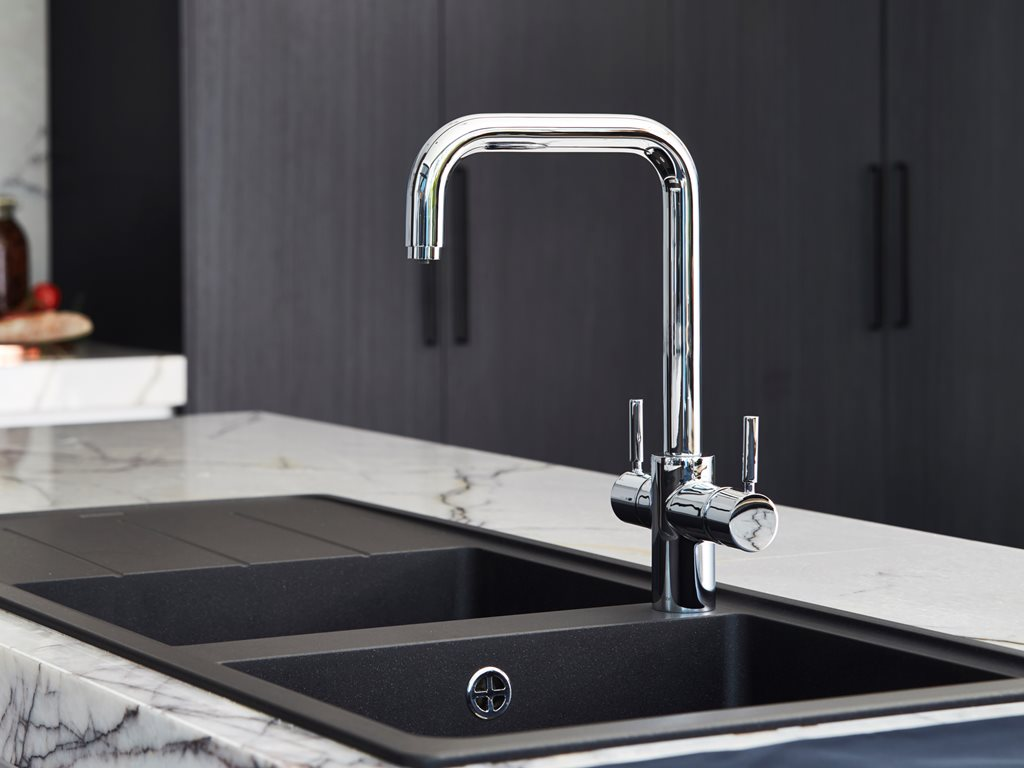 Offering cool water, Hot water and Steaming Hot Water on from a single tap.