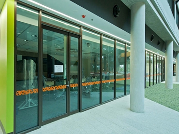 Definium Aluminium Partitioning System with Offset and Double Glazing