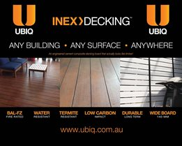 UBIQ Light-weight INEX>BOARDS , an alternative to fibre cement and plasterboard