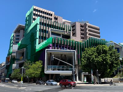 Mitsubishi Alpolic Royal Children's Hospital Green and Purple-Building Façade