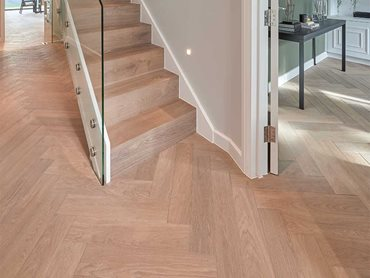 Fendi Herringbone is made from engineered European Oak