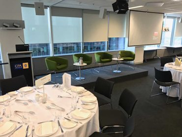 Stage solution for a CPA Australia corporate event