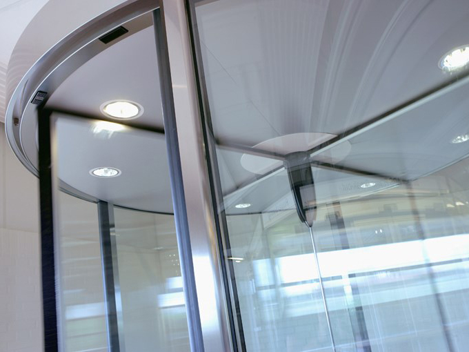 Detailed image of revolving door