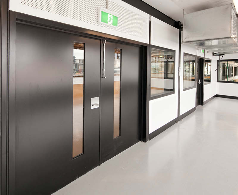 Timber partition doors for commercial applications