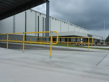 Safestop™ Pedestrian and Industrial Barriers used in industrial environment