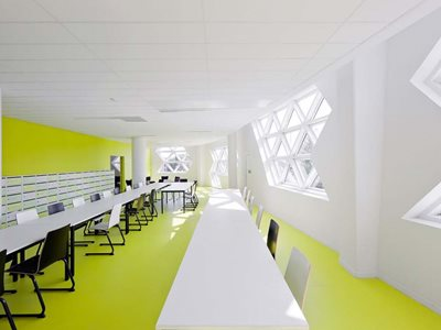 Altro highly durable and customisable wall and flooring in commercial office interior