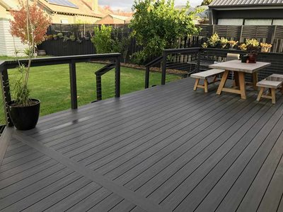 Backyard With Outdoor Decking Area