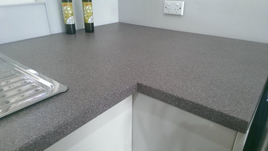 CulourTek Benchtops corner no join by ISPS Innovations
