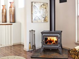 Hearthstone wood fireplaces stay warmer longer
