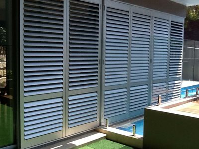 Detailed images of plantation shutters