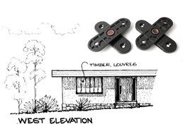 Angle-shoe pivots for timber louvres