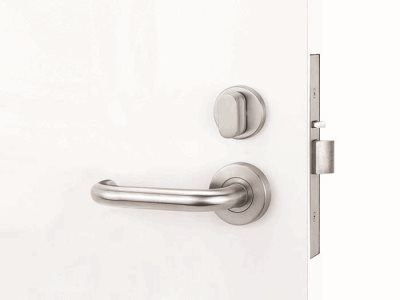 Yale Simplicity door hardware kit insitu curved handle