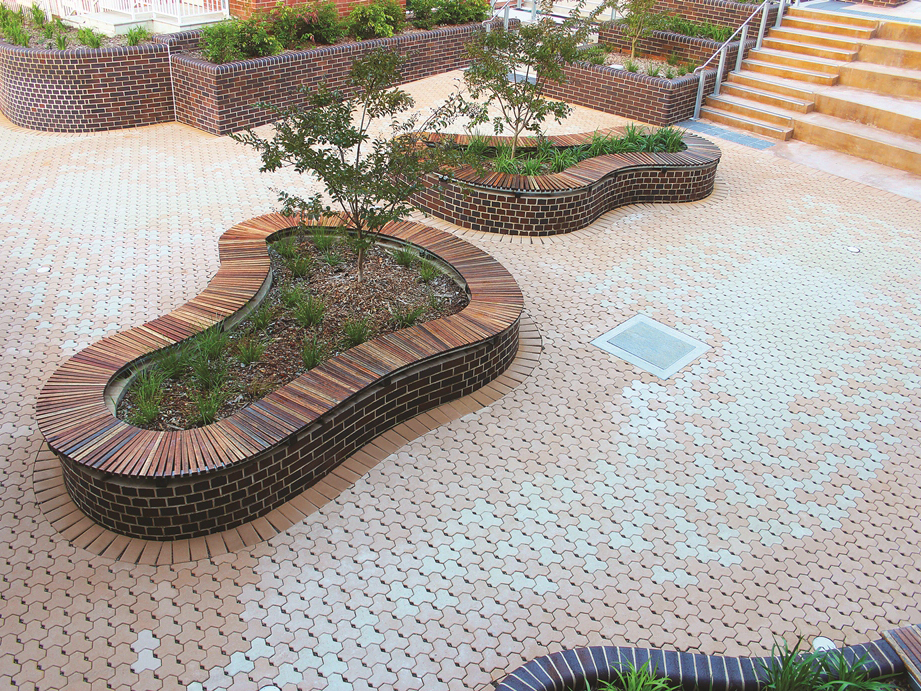 Environmental permeable paving with Ecopave and Ecotrihex