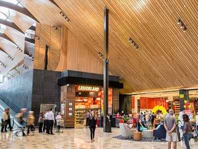Commercial Shopping Mall High Timber Ceiling