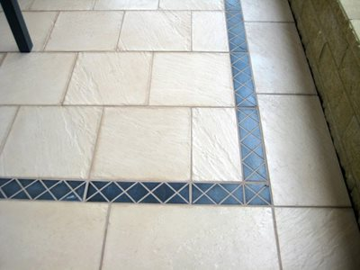 Detailed image of handmade tile pavers