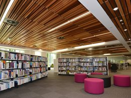 SUPATILE SLAT Pre-finished fully accessible slatted ceiling tile system