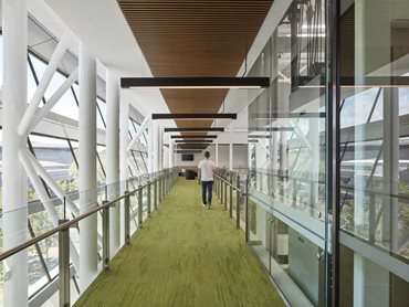 Capral's aluminium systems met the environmental objectives of the building's design.