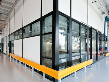 Definium Aluminium Partitioning System with Offset and Double Glazing l jpg