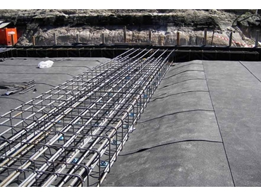 For membrane protection prior to concrete pour