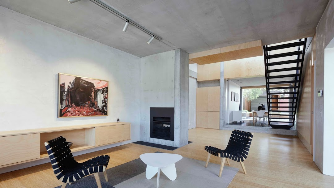 Lilyfield House concrete interiors