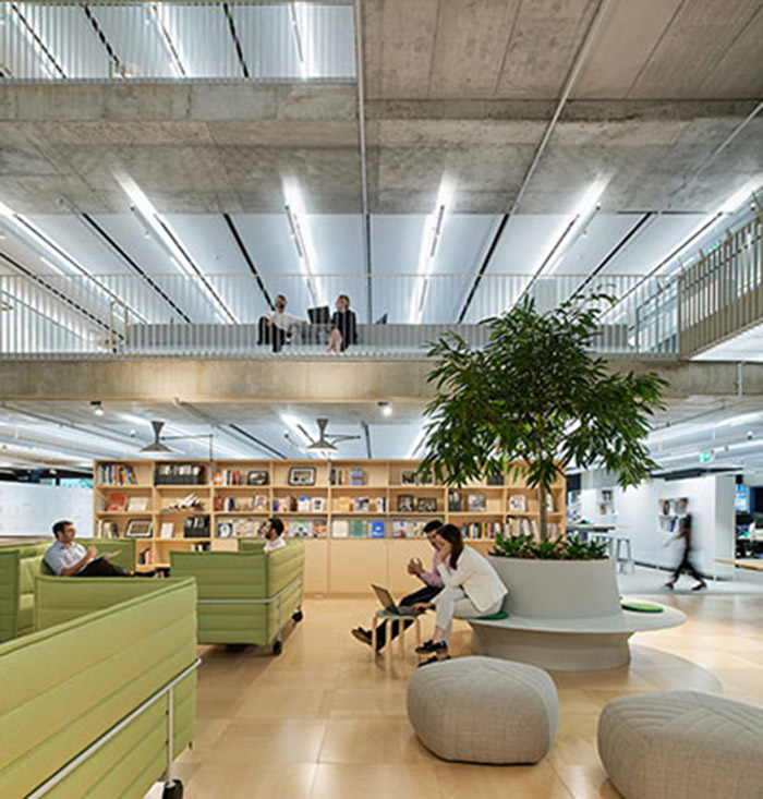 Interior view of Arup HQ office meeting space