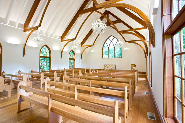 Charlotte Chapel timber interior