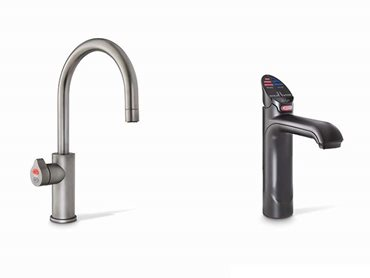 A water station with a Zip HydroTap Arc in gunmetal has been provided in the waiting area