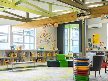 Whangaparaoa Primary School recently refurbished their school library with Autex Composition