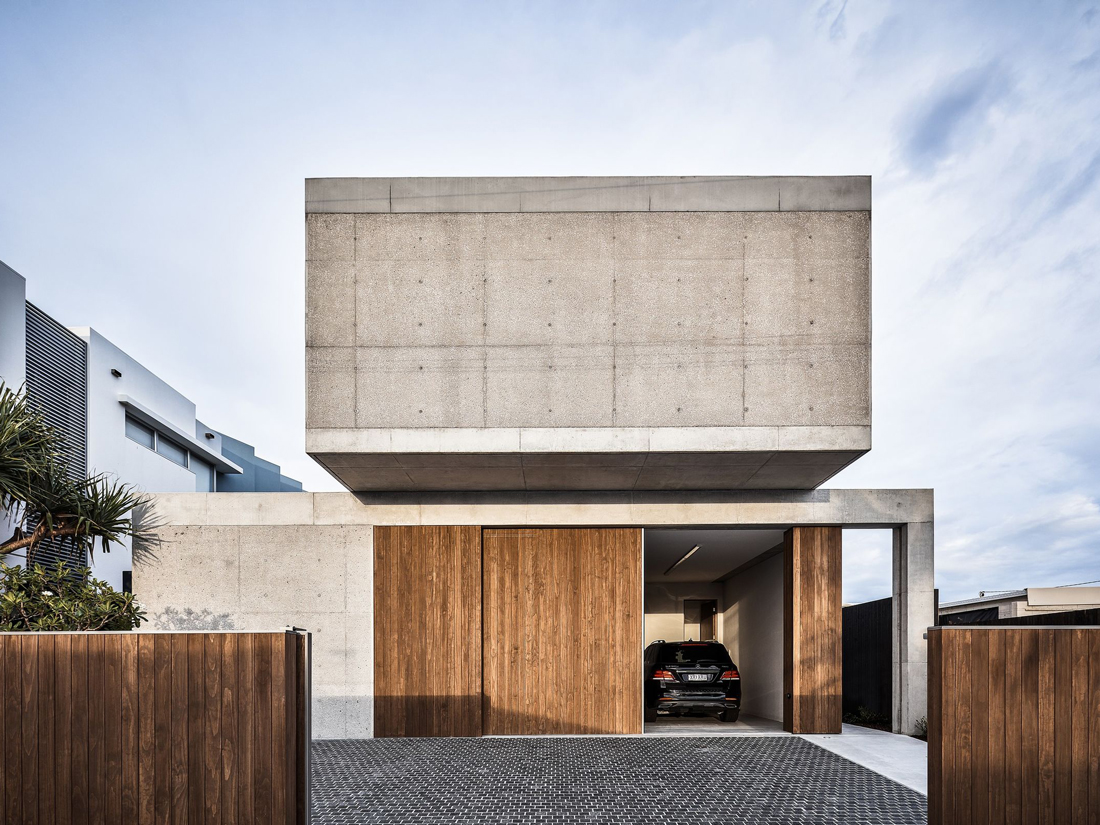 Mermaid Beach Residence concrete facade