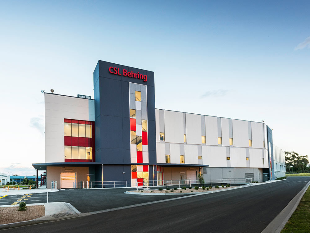 ASKIN Exteriors: External foam wall and facade panels CSL Behring