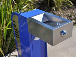 Architecturally designed drinking fountains