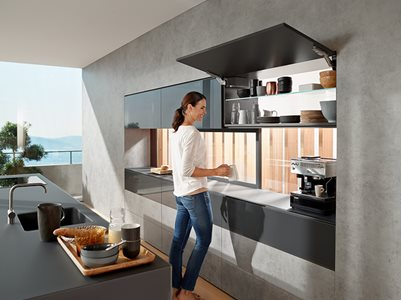 AVENTOS Over Head Cabinet Hinge Solution Residential Kitchen Cupboard