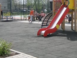 Rubber pavers for playground safety from Rephouse