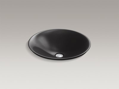 Detailed product image of modern black round basin