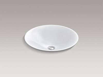 Detailed product image of modern white round basin