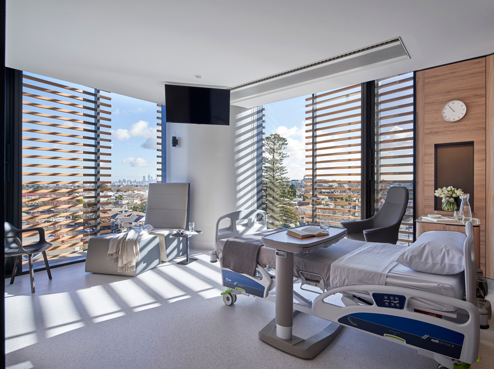 Cabrini Hospital Gandel Wing room louvres