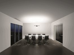 Dyson CU-Beam Lighting: Suspended lighting with Heat pipe technology to cool LEDs