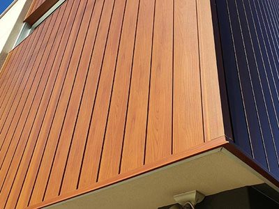 Detailed Narrowline building facade with DecoClad non-combustible aluminium cladding