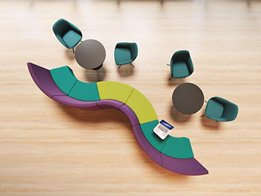 Arena Seating: Striking choice for reception, waiting room or breakout areas
