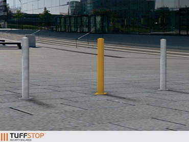 Tuffstop Bollards deter vehicle and pedestrian traffic