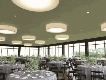 USG Boral Ensemble acoustic ceiling panels in banquet hall