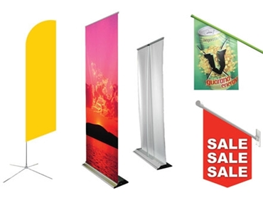 Customisable End Sign Point of Sale FLags and Banners to attract your customers