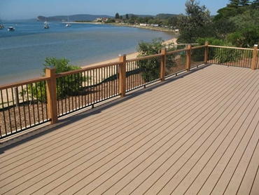 Timber alternative decking from Modwood