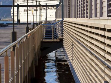 Wharf 8 & 9 featuring Innowood's sustainably sourced and manufactured composite timber