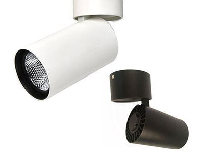 Detailed Shot of White and Black Surface Mounted Ceiling Lights