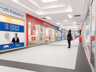 Altro Cantata and Xpresslay adhesive-free flooring products were chosen for the shopping centre project based on their reliability and performance.
