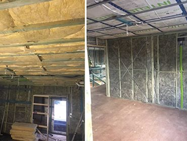Bradford Insulation's ceiling batts, wall batts and acoustic batts were installed