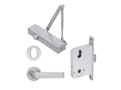 Yale Simplicity door hardware kit detailed