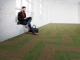 Breaking Ground plank carpet tile with EcoSoft