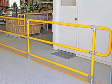 Safestop™ Barriers used as a channelling device to safeguard valuable floor space